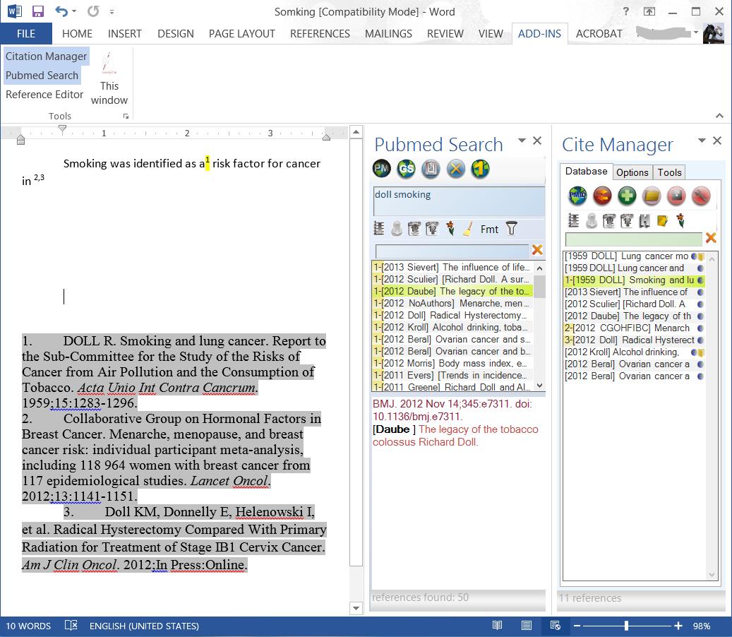 HandyCite full screenshot